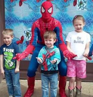 Spiderman Entertainment Kids Birthday Parties Nashville Hendersonville Clarksville Gallatin Kentucky Glasgow Bowling Green